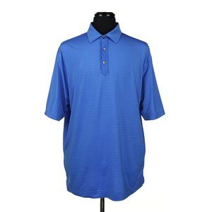FootJoy Short Sleeve Golf Polo Shirt Blue Striped